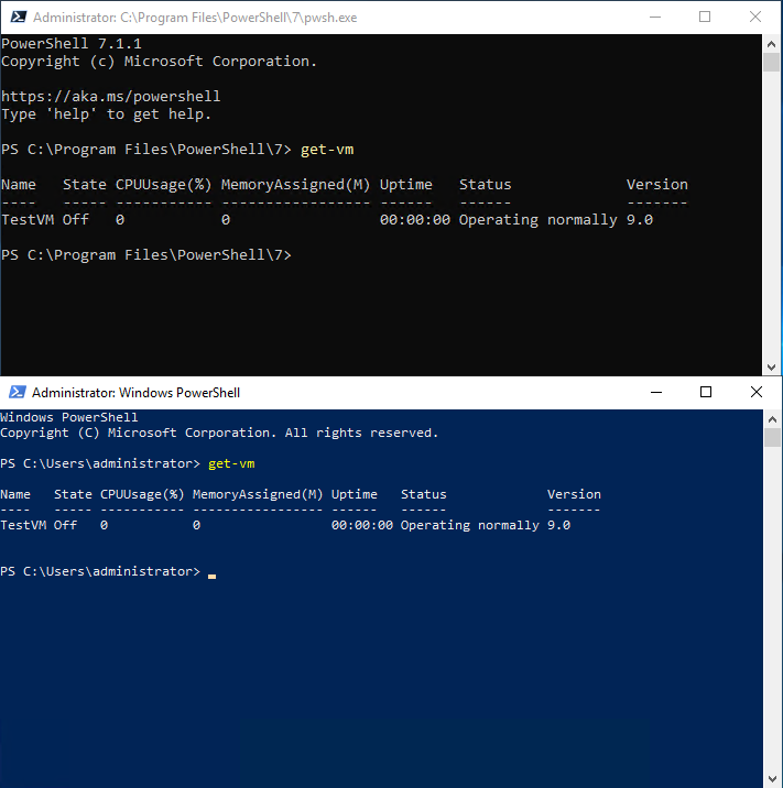 Comparing PowerShell Core with Windows PowerShell
