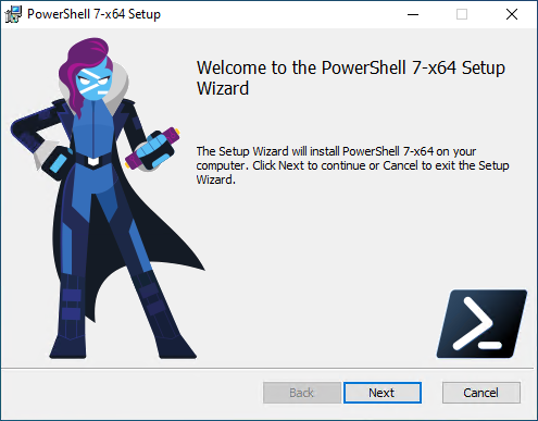 Installing the latest version of PowerShell Core