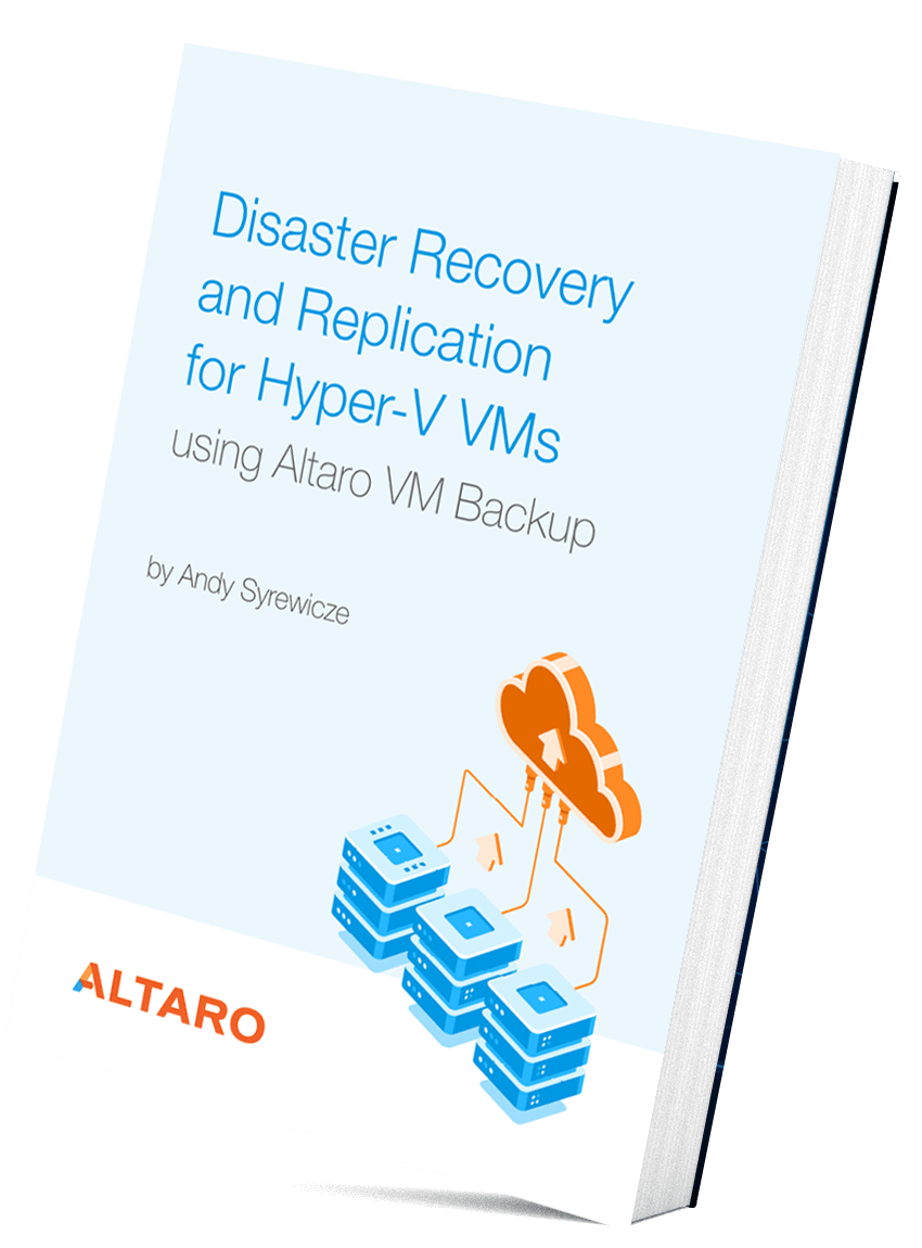 disaster recovery and replication for hyper v vms