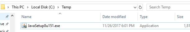 Java installer file