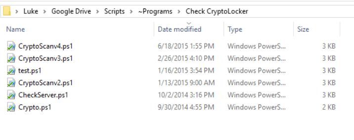 script folder structure
