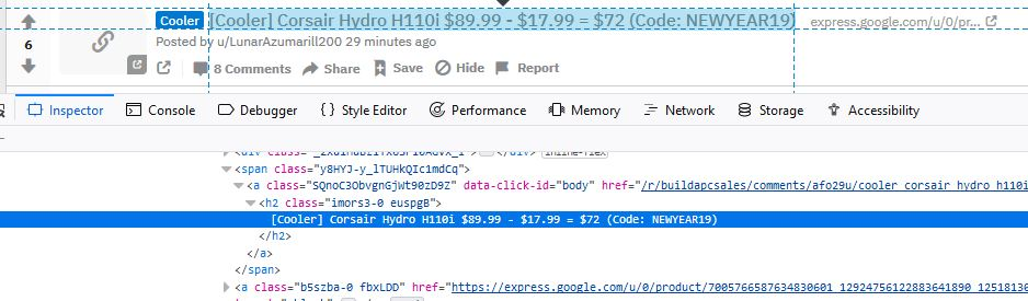 Web Developer tool