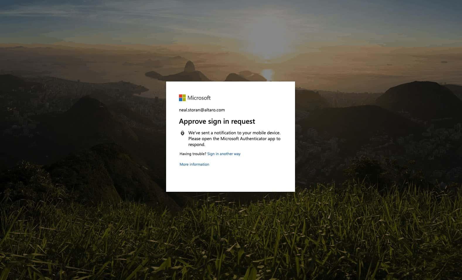 Office 365 2 Factor Authentication Desktop Sign In