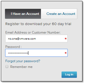 Figure 7 - Creating a VMware user account