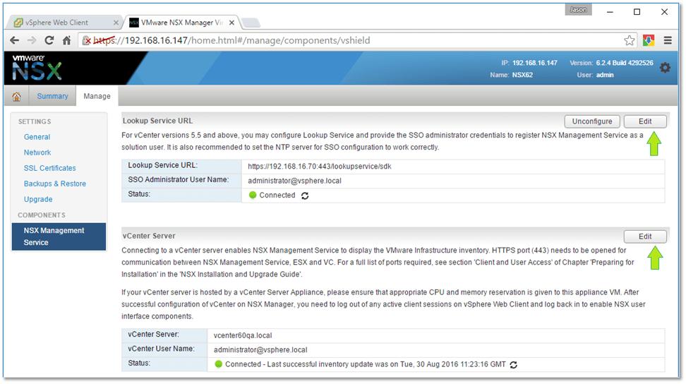 Figure 12 - Configuring SSO and registering vCenter Server