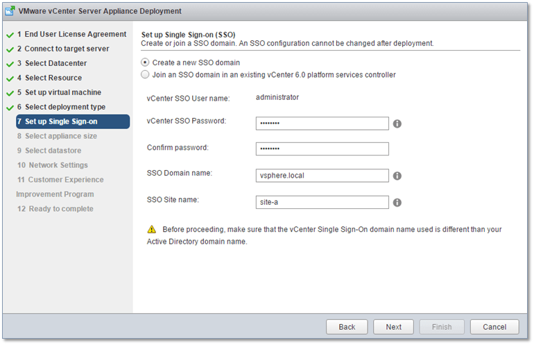 Figure 9 - Setting up SSO on the PSC