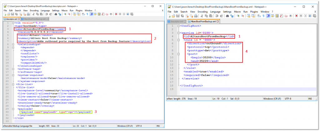 Figure 6 - Creating the XML files in Notepad++