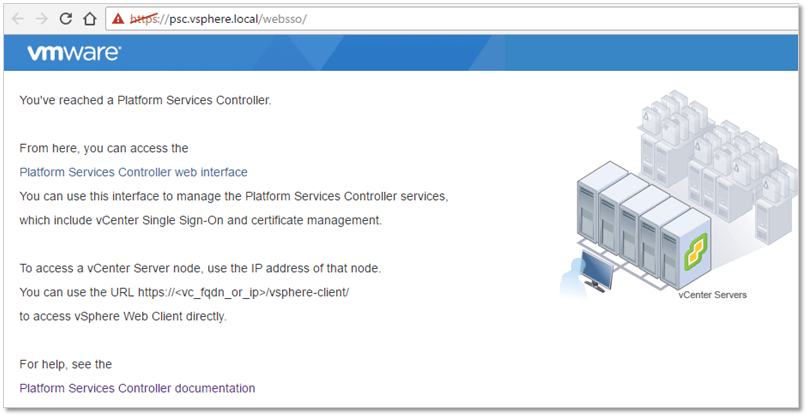 Figure 20 - PSC SSO landing page