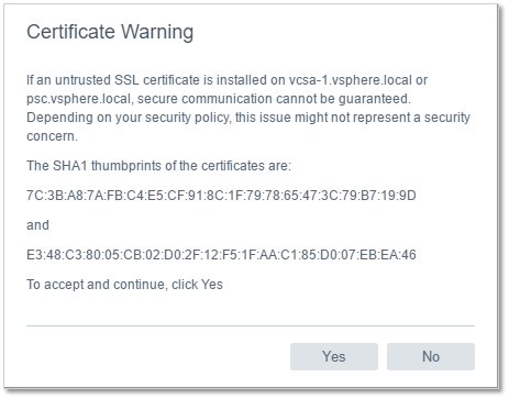Figure 6 - Accepting the SSL certificate warning