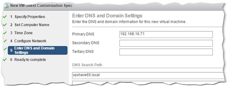 Figure 17 - GOSC DNS Settings screen