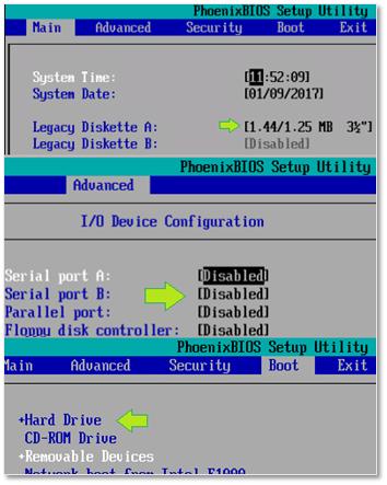 Figure 5 - Changing a VM's BIOS settings