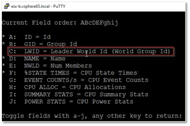 Adding the LWID column to the virtual machine view