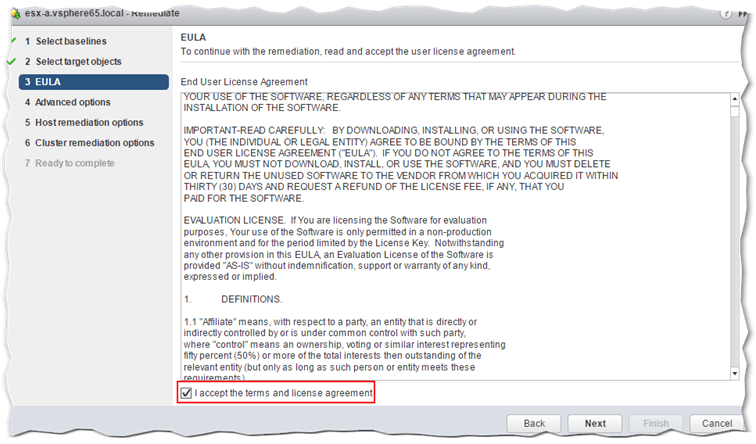 Figure 14 - Remediation Step 3 - Accept the End User License Agreement