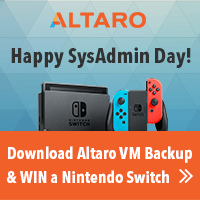 Celebrate sysadmin day - win a nintendo switch with Altaro!