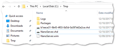The generated Nano VHD file