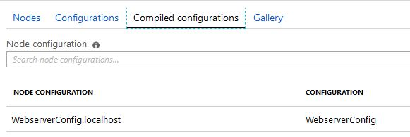 compiled configuations
