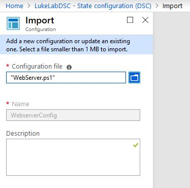 Importing configurations