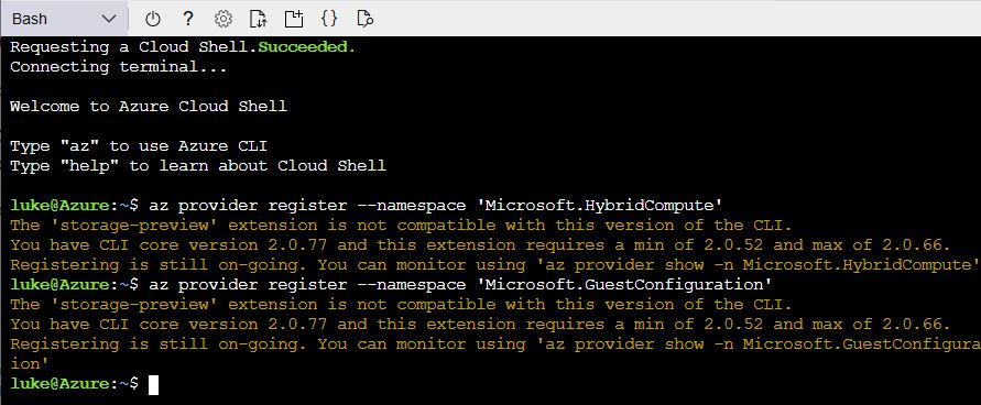 Installing the Azure Arc Providers