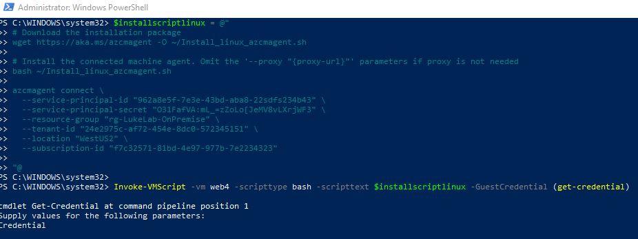 Invoke-VMScript