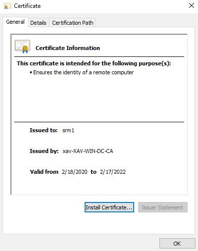 Install Certificate
