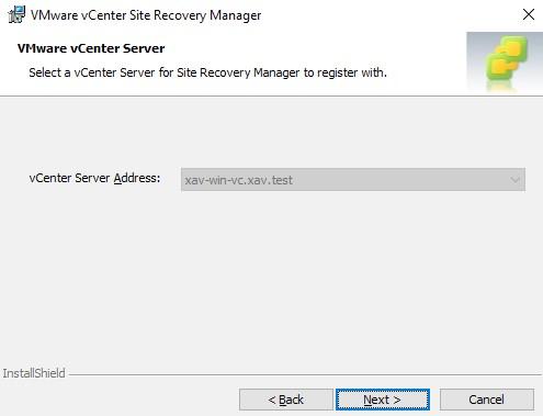 vCenter Server Address click next