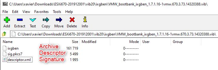 vSphere Installation Bundle, VIB