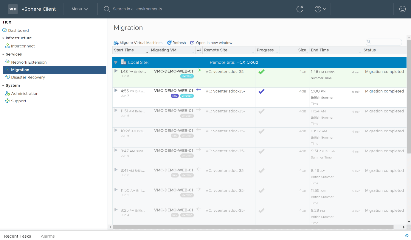 Hybrid Linked Mode and HCX migration