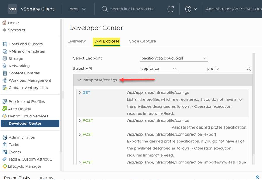 vCenter Server profiles in vCenter Server 7