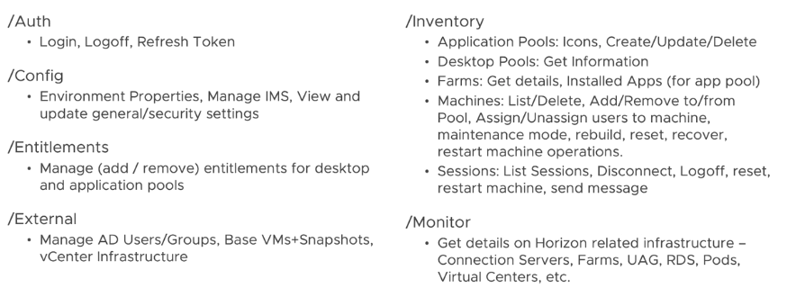 Horizon 8 REST API