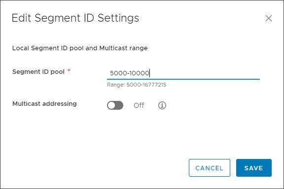 Assigning a Segment ID pool