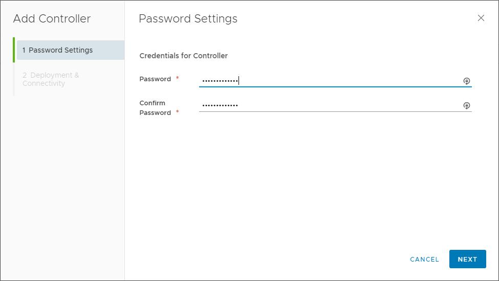Configuring a password for the NSX Controller Node