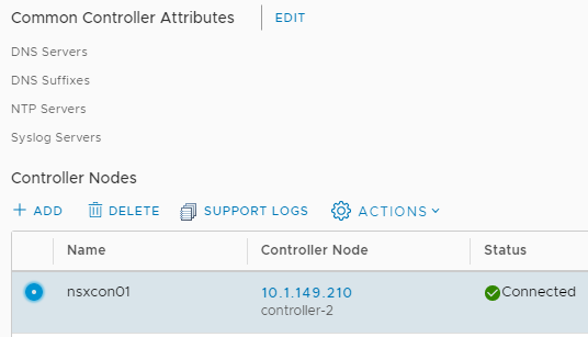 New NSX Controller Node is deployed successfully