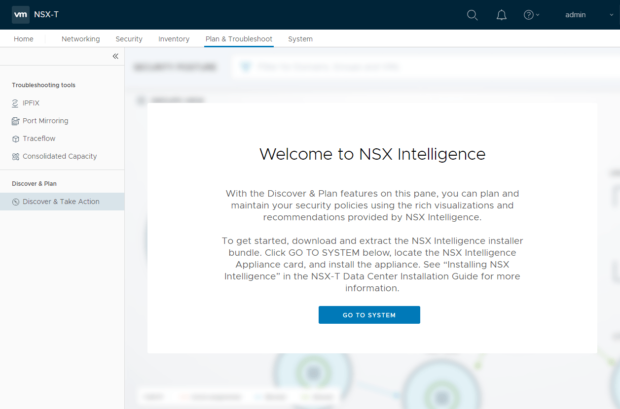 VMware NSX-T NSX Intelligence provides a modern security solution