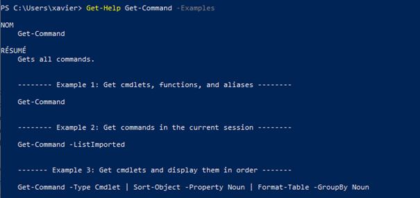 Display examples on how to use a command