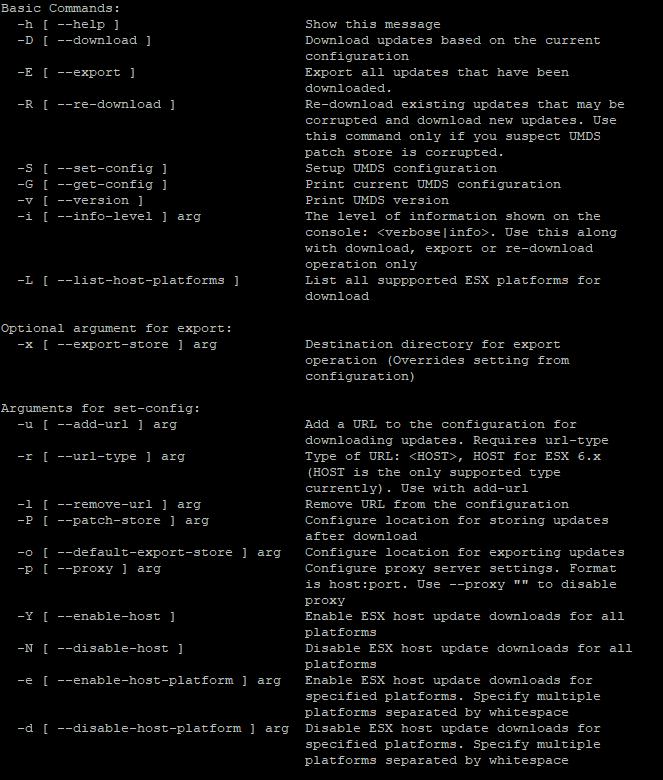 Configuration of UMDS 7.0