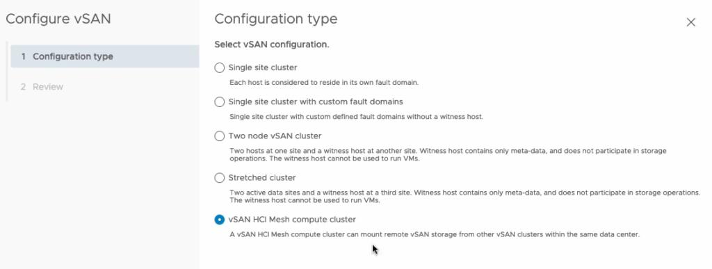 VSAN-enabled cluster