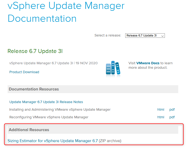 vSphere Update Manager Documentation